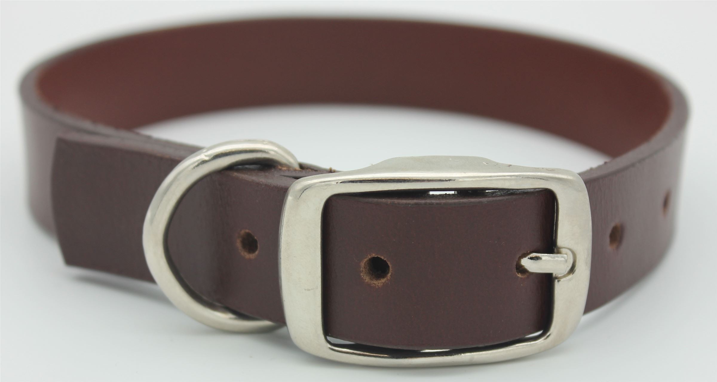 25mm Genuine Leather Plain Dog Collar (129351)