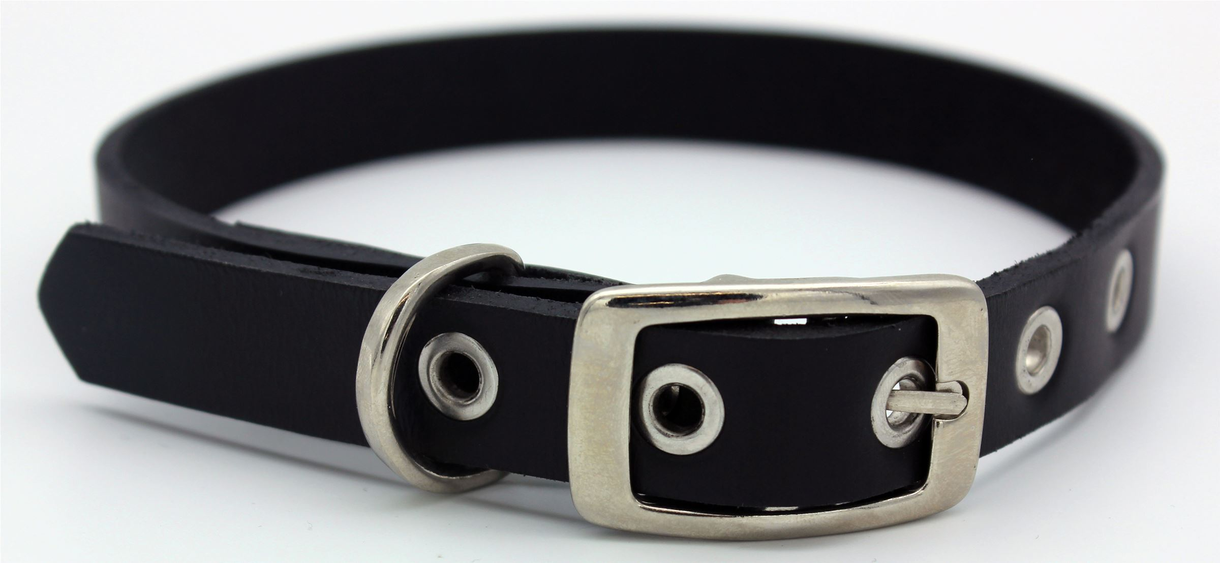 20mm Genuine Leather Collar Stud Detail (129354)